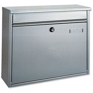 Image of Landscape Style Mail Box - Silver