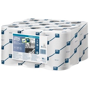 Image of Tork Reflex Wiper Rolls / 2-Ply / White / 9 Rolls of 200 Sheets