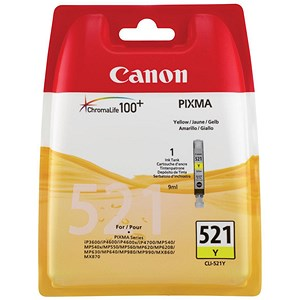 Image of Canon CLI-521 Yellow Inkjet Cartridge