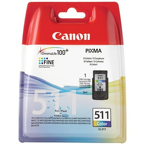 Image of Canon CL-511 Colour Inkjet Cartridge