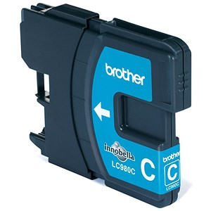 Image of Brother LC980C Cyan Inkjet Cartridge