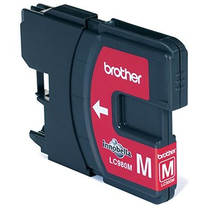 Image of Brother LC980M Magenta Inkjet Cartridge