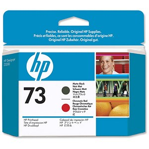 Image of HP 73 Matte Black/Chromatic Red Printhead