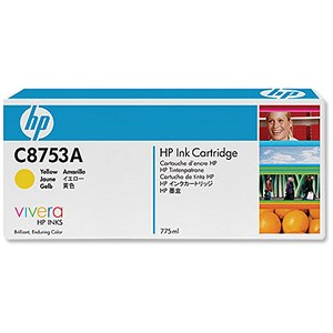 Image of HP C8753A Yellow Ink Cartridge