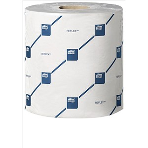 Image of Tork Reflex Wiper Rolls / 2-Ply / White / 6 Rolls of 429 Sheets