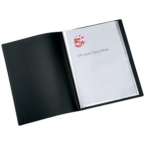 Image of 5 Star Soft Cover Display Book / 20 Pockets / A4 / Black