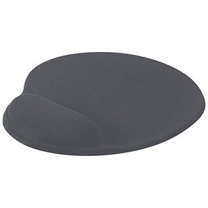 Image of Mouse Mat Ergonomic Non Slip with Gel Wrist Rest - Charcoal