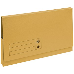 Image of 5 Star Document Wallets Full Flap / 285gsm / Foolscap / Yellow / Pack of 50