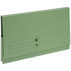 Image of 5 Star Document Wallets Full Flap / 285gsm / Foolscap / Green / Pack of 50