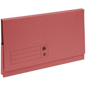 Image of 5 Star Document Wallet Full Flap 285gsm Capacity 32mm Foolscap Red [Pack 50]