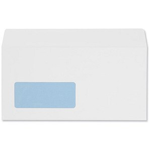 Image of 5 Star DL Envelopes with Window / White / Peel & Seal / 100gsm / Pack of 500