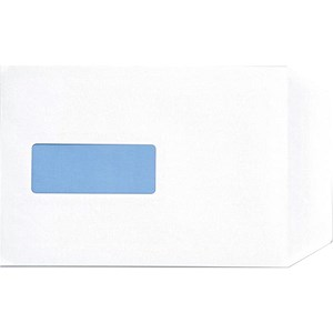Image of 5 Star White C5 Envelopes with Window / Peel & Seal / 100gsm / Pack of 500