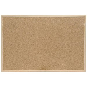 Image of 5 Star Noticeboard / Cork / Pine Frame / W600mm x H400mm