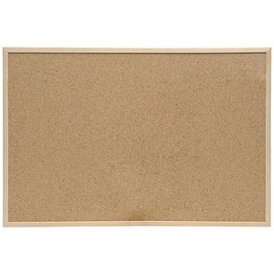 Image of 5 Star Noticeboard / Cork / Pine Frame / W900mm x H600mm