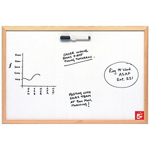 Image of 5 Star Economy Drywipe Board - W900xH600mm