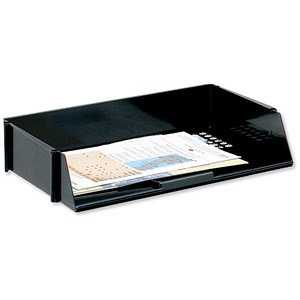 Image of 5 Star Wide Entry Stackable Letter Tray / High-impact Polystyrene / Black