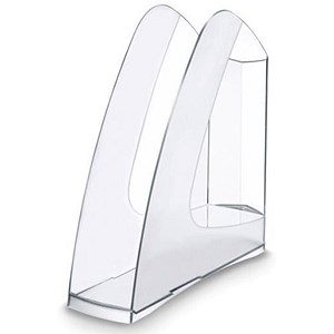 Image of 5 Star Low Sill Magazine Rack / A4+ & Portrait Foolscap / Crystal