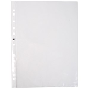 Image of 5 Star A4 Punched Pockets / Top & Side-opening / 60 Micron / Pack of 100