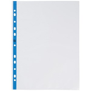 Image of 5 Star A4 Plastic Pockets / 80 Micron / Pack of 100