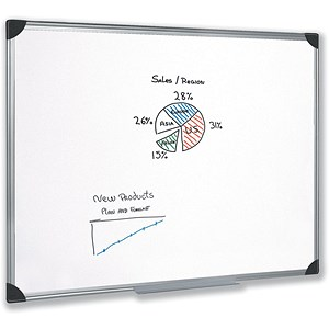 Image of 5 Star Magnetic Whiteboard / Aluminium Frame / W1200xH900mm