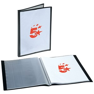 Image of 5 Star Rigid Cover Display Book / 20 Pockets / A4 / Black