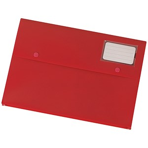 Image of 5 Star A4 Document Wallets / Red / Pack of 3
