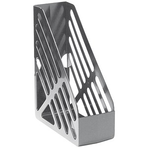 Image of 5 Star Foolscap Magazine Rack - Grey