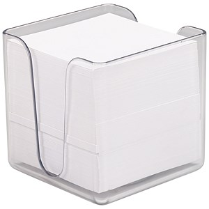 Image of 5 Star Transparent Noteholder Cube with Approx 750 White Sheets - 90x90mm