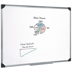 Image of 5 Star Magnetic Whiteboard / Aluminium Frame / W1800xH1200mm