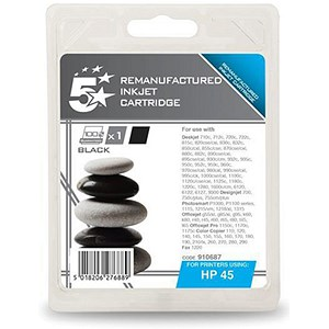 Image of 5 Star Compatible - Alternative to HP 45 Black Ink Cartridge