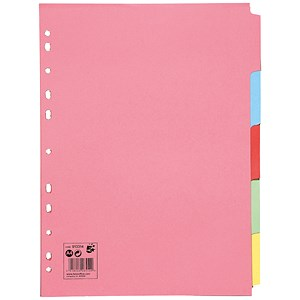 Image of 5 Star Subject Dividers / 5-Part / A4 / Assorted / Pack of 50