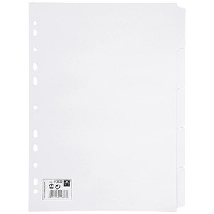 Image of 5 Star Subject Dividers / Multipunched Manilla Card / 5-Part / A4 / White