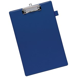 Image of 5 Star Standard Clipboard with PVC Cover / Foolscap / Blue