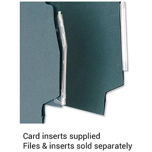 Image of 5 Star Card Inserts for Lateral Files Tabs White - Pack of 50