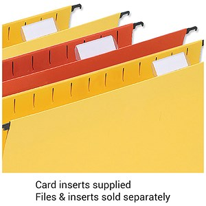 Image of 5 Star Wrapover Suspension File Card Inserts / White / Pack of 50