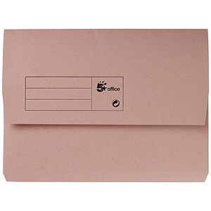 Image of 5 Star Document Wallet Half Flap 285gsm Capacity 32mm A4 Buff [Pack 50]