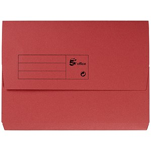 Image of 5 Star Document Wallet Half Flap 285gsm Capacity 32mm A4 Red [Pack 50]