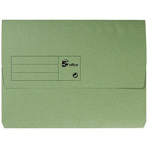 Image of 5 Star Document Wallet Half Flap / 285gsm / A4 / Green / Pack of 50