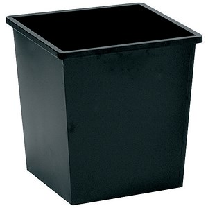 Image of 5 Star Square Waste Bin / Metal / Scratch Resistant / W325xD325xH350mm / 27 Litres / Black