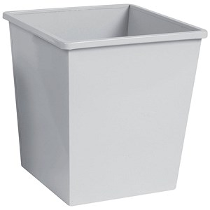 Image of 5 Star Square Waste Bin / Metal / Scratch Resistant / W325xD325xH350mm / 27 Litres / Grey