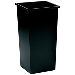 Image of 5 Star Square Waste Bin / Metal / Scratch-resistant / W325xD325xH642mm / 48 Litres / Black