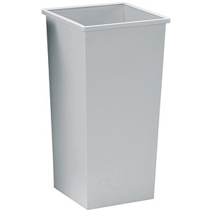 Image of 5 Star Square Waste Bin / Metal / Scratch-resistant / W325xD325xH642mm / 48 Litres / Grey