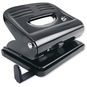 Image of 5 Star 2-Hole Punch / Black / Punch capacity: 18 Sheets