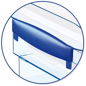 Image of CEP Premier Risers for Letter Tray H30mm Blue Ice Ref 921700 [Pack 2]