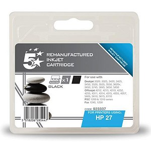 Image of 5 Star Compatible - Alternative to HP 27 Black Ink Cartridge