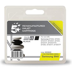 Image of 5 Star Compatible - Alternative to Samsung INK-M40 Black Inkjet Cartridge