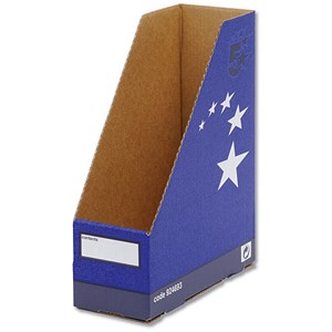 Image of 5 Star Recycled Magazine File / Quick-assembly / Recycled / A4+ / Blue / Pack of 10