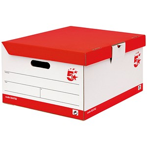 Image of 5 Star Storage Trunk / Red & White / Pack of 10