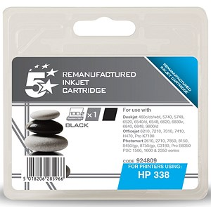 Image of 5 Star Compatible - Alternative to HP 338 Black Ink Cartridge