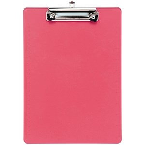 Image of 5 Star Plastic Clipboard / Durable with Rounded Corners / A4 / Pink